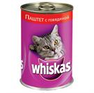 Зоотовары Киев. Whiskas Киев. Whiskas (Вискас) супермясо паштет с говядиной 0, 4 кг