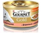 Зоотовары Киев. Gourmet Киев. Gourmet Gold (Гурмет Голд) Trout & Vegetables (Форель-овощи) 85 г